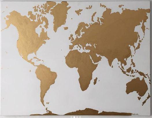 Atlas dorado pintado a mano